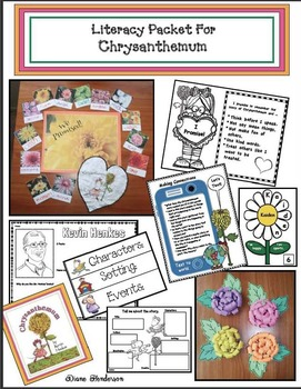 Literacy Packet For Chrysanthemum