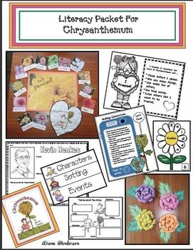 Chrysanthemum Activities: Literacy Packet For Chrysanthemum