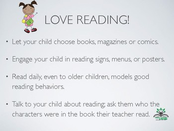 Literacy Packet For Parents