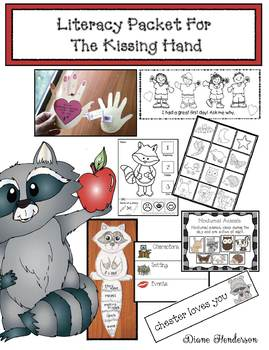 Literacy Packet For The Kissing Hand