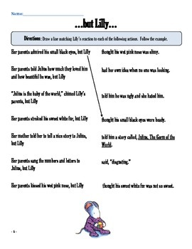 Literacy Packet: Julius, The Baby of the World by Kevin Henkes