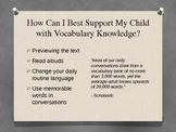Literacy Parent Night