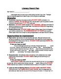 Literacy Parent Plan/ Reading Progress Report/Parent Letter