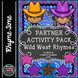 Word Work Rhyming Scoot--Wild West Vocabulary Activities