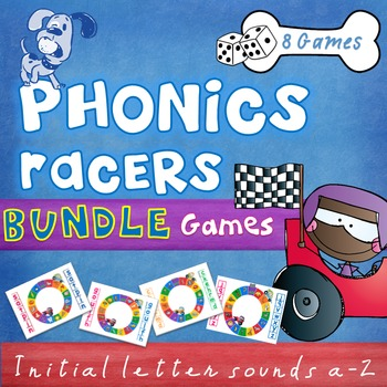 Beginning, initial letter sounds phonics games bundle