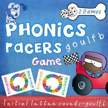 Literacy - Phonics Racers (goulfb) Game - Beginning, initi
