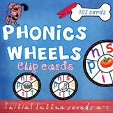 Phonics Wheels Letter Sounds (a-z) Clip Cards