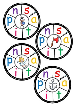 Phonics Wheels Letter Sounds (a-z) Clip Cards