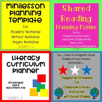 Should Literacy Instruction Be >> Literacy Planning Tools Bundle Planning For A Year Of Literacy