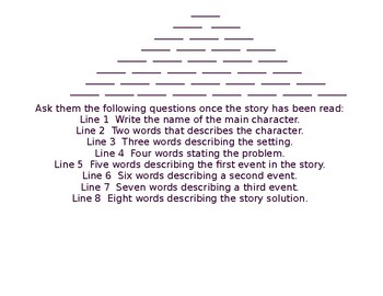 Literacy Poem Pyramid
