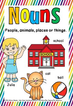 noun and verb Posters