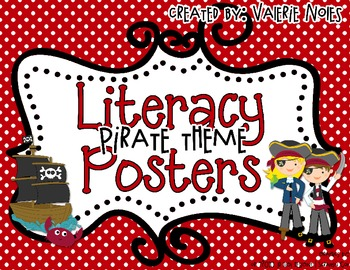 Literacy Posters: Pirate Theme