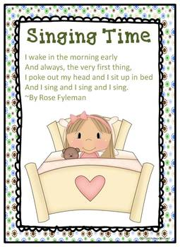 Literacy Posters * Spring Poetry Collection for Early Readers * 16 poems * CCSS