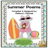 Literacy Posters * Summer Poetry Collection for Early Readers * 16 poems * CCSS