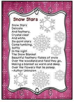 Literacy Posters * Winter Poetry Collection for Early Readers * 16 poems * CCSS