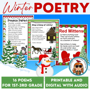 Literacy Posters * Winter Poetry Collection for Early Read