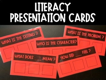 Literacy Presentation Cards