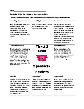Choice Board for Literacy-Think Tac Toe