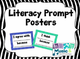 Literacy Prompt Response Posters