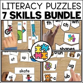 Literacy Centers Puzzle Bundle