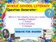 Literacy Quiz: Language, Punctuation and Grammar
