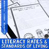 Literacy Rates and Standards of Living Reading Activity (SS6E3, SS6E3a)