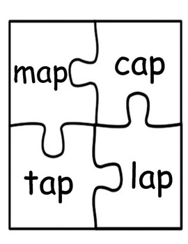 Literacy / Reading: CVC Word Families Puzzles