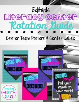 EDITABLE Sparkle & Brights Guided Reading Rotation Kit