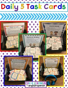 Literacy - Reading (EDITABLE) Task Card Bundle - Great for Daily 5 & Centers