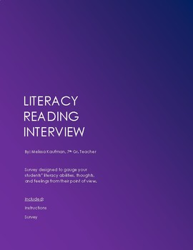 Literacy Reading Interview