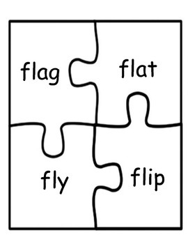 Literacy / Reading:  Letter Blends Puzzles