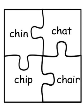 Literacy / Reading: Letter Digraph Puzzles