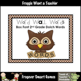Literacy Resource -- Box Font Second Grade Dolch Word Wall Words