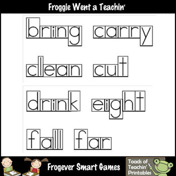 Literacy Resource -- Box Font  Third Grade Dolch Word Wall Words