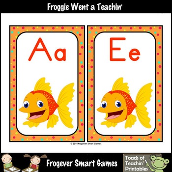 Literacy Resource--Fancy Fish Word Wall Headers (small/2 per page)