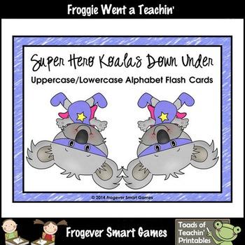 Alphabet--Super Hero Koalas Down Under Alphabet Flash Cards