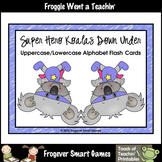 Alphabet--Super Hero Koalas Down Under Alphabet Flash Cards