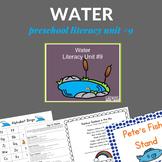 Literacy Rich Water Lesson Plans for Preschoolers (Unit)