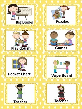 Literacy Rotation Cards and Posters
