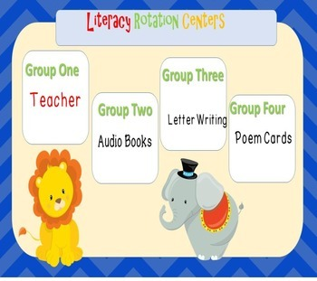Reading/Literacy Rotation Power Point- Circus Themed
