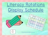 Literacy Rotations Center Schedule Display * Editable *