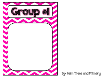 Literacy Rotations Chart // Pocket Chart Center Cards {black & brights edition}