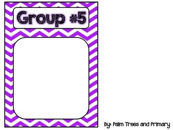 Literacy Rotations Chart // Pocket Chart Center Cards {brights edition}