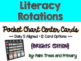 Literacy Rotations Chart // Pocket Chart Center Cards {bri