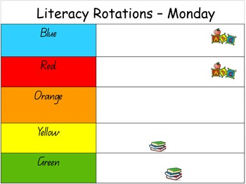Literacy Rotations Daily Tasks
