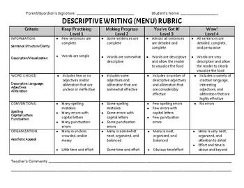 Literacy Assessment Rubrics