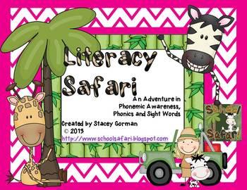 Literacy Safari: An Adventure in  Phonemic Awareness,  Phonics and Sight Words