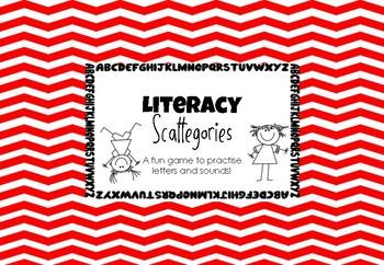 Literacy Scattegories