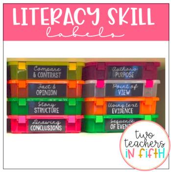 Literacy Skill Tub Labels