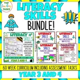 Writing Skills BUNDLE Activities, Posters and Task Cards (NZ) Year 3 and 4